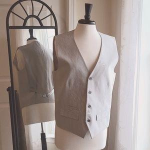 Express Mens☆Gray Seersucker Suit Vest